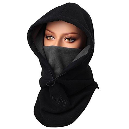 Purjoy Warm Thickening Fleece Balaclava Full Face Mask Hats Neck Warmer Outdoor Winter - Neck Gear