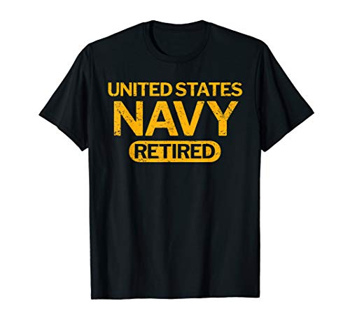 United States Navy Retired Distressed Vintage T-Shirt