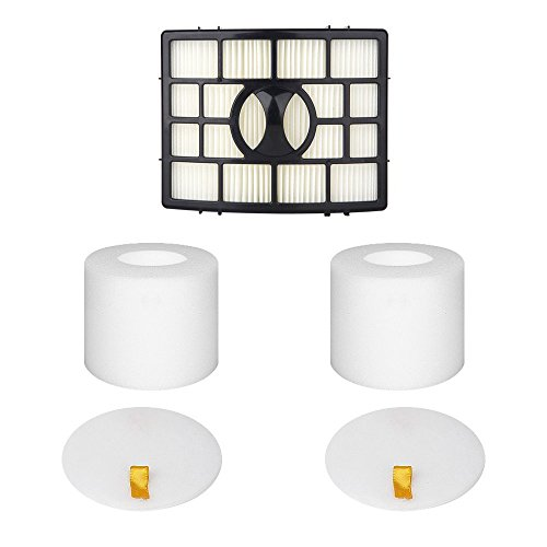 Yonice Replacement Filters for Shark Rotator APEX DuoClean Powered Lift-Away Vacuum NV650, NV651, NV652, NV750, NV751, NV752, NV753, AX950, AX951, AX952, XFF650 & XHF650 1 HEPA + 2 Foam Felt Filters (Ppi Series)