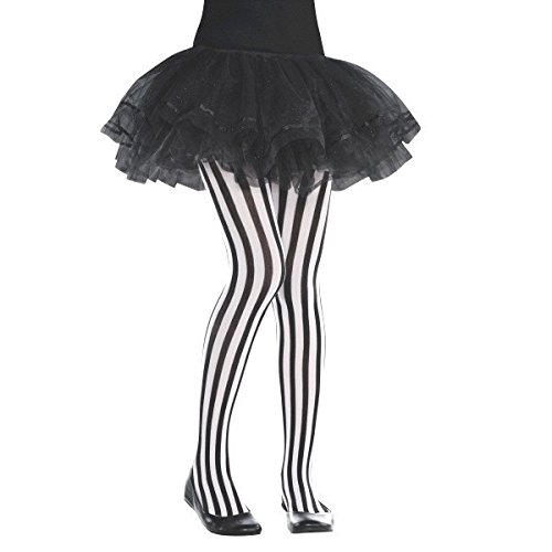[Pirates Party Vertical Striped Tights Costume Accessory, Fabric, Children's Size 10] (Tights Costumes Accessory)