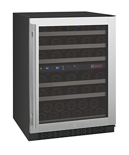 Allavino FlexCount VSWR56-2SSRN - 56 Bottle Dual Zone Wine Refrigerator with Right Hinge Built-In by Allavino
