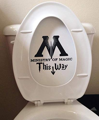 (Ministry of Magic Toilet Harry Potter Decal Sticker Vinyl Die Cut Decal Sticker for Toilet Decoration)