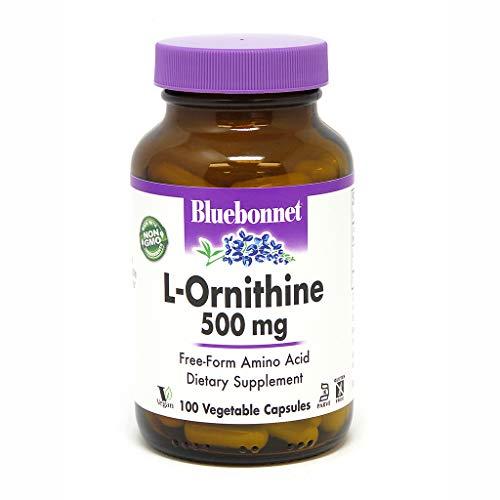 (Bluebonnet L-Ornithine 500 mg Vitamin Capsules, 100)