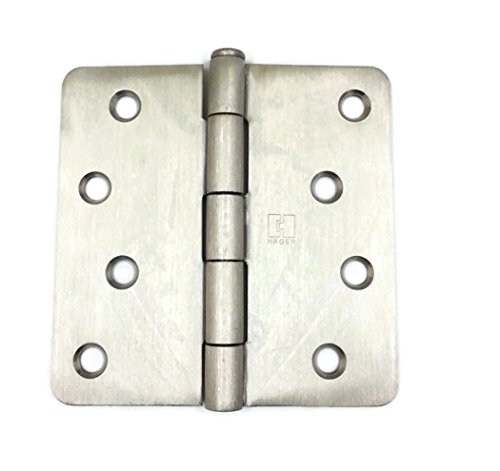 Hager Stainless Steel Door Hinge RC1541 4 x 4 US32D Satin Stainless, 1/4