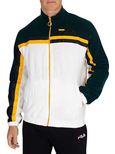 d59c479d Fila Vintage Men's Ethan Terry Towelling Track Jacket, White, X-Large