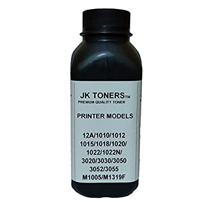 Jk Toners Powder Refill Compatible with Hp 12a, Q2612a / Canon 303, Fx-9  Cartridge Hp Laserjet 1010,1012,1020,1020 Plus,1022,LBP 2900 (Black)  (120GM)