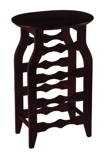Winsome Wood Oval Wine Rack, Espresso (Cabinet Accent Small Oval)