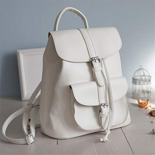 Girls Backpack Pu Shoulder Drawstring Women Fashion For Leather School Black Bag Teenage S0qvBwxB