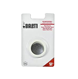 Bialetti 06963 Moka 1-Cup Gasket/Filter Replacement Parts from Bradshaw International