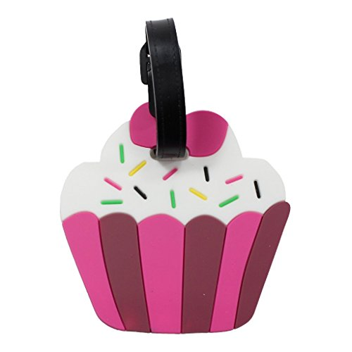 Luggage Tags for Kids and Adult Suitcases Backpacks or Bags (Cupcake Luggage Tag)