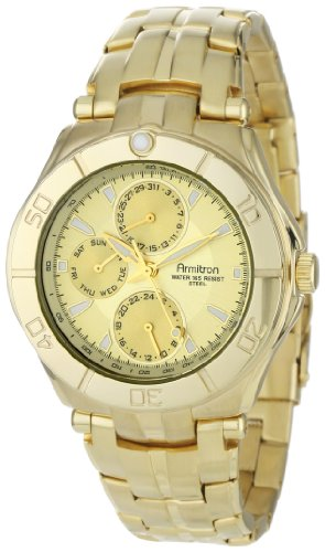 Buy armitron mens 204224chgp gold tone stainless steel multi buy armitron mens 204224chgp gold tone stainless steel multi function dress watch online at low prices in india amazon fandeluxe Choice Image
