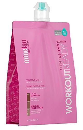 MineTan Spray Tan Solution - Workout Ready Pro Spray Mist - Salon Professional 1 Hour Express Tan - The Tan That Won't Sweat Off, 33.8 fl oz (Best Tanning Solution Australia)
