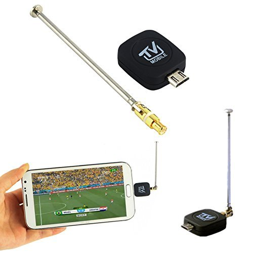 Wonderful Mini Micro USB DVB-T tuner TV receiver Dongle/Antenna DVB T HD Digital Mobile TV HDTV Satellite Receiver for Android Phone (Ads Mini Usb Tv Tuner)