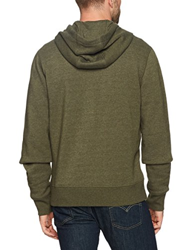 Amazon Essentials Men's Full-Zip Hooded Fleece Sweatshirt, Olive Heather, XX-Large