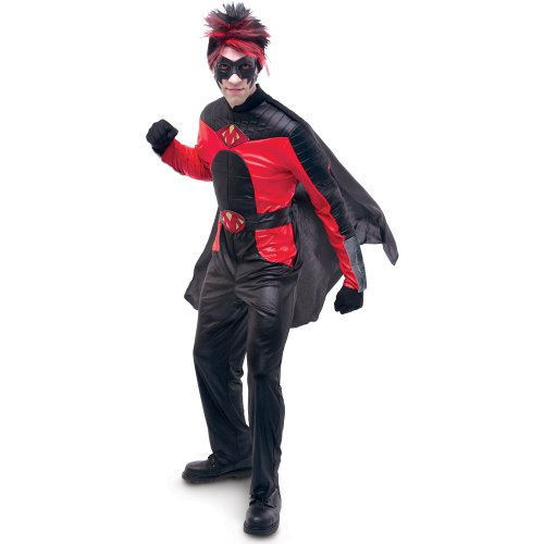 Paper Magic Group Men's Kick-Ass Movie Mist Deluxe Adult Costume Large (46-48) Red/Black (Kickass Costumes)