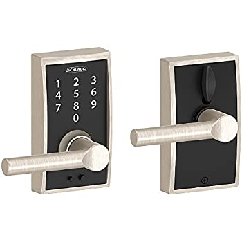 Schlage Touch Century Lock With Latitude Lever Satin