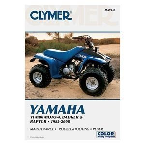 amazon com clymer repair manual for yamaha atv grizzly 660 02 07 rh amazon com 2004 Yamaha Grizzly 125 Specs Yamaha 125 ATV