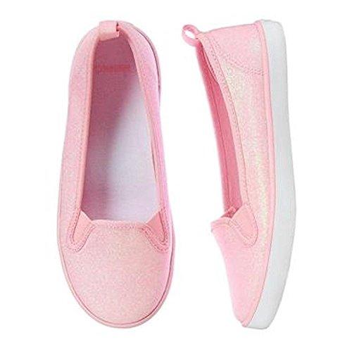 Powder Pink Kids Shoes (Gymboree Girls Powder Pink Sparkle Skimmers (11)