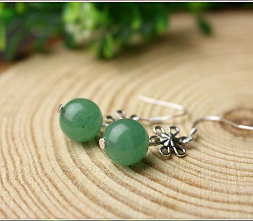 Candy-Colored Agate Jade Earrings Earring Dangler Eardrop Creative Gift Long Elegant Woman (Green