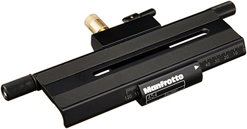 Manfrotto 454 Micrometric Positioning Sliding Plate - Replaces 3419 -Black