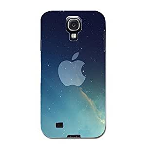 Apple Logo Phone Case Sky Style 3D Protective Cover Case for Samsung Galaxy S4 I9500 Luxury Logo