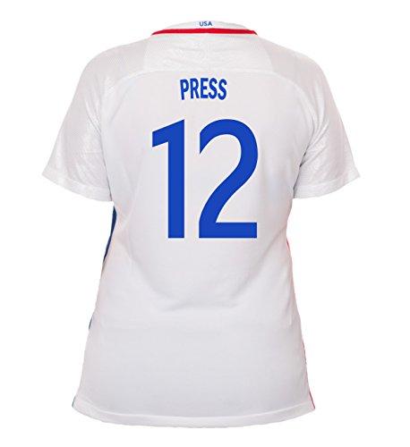 (Nike Press #12 USA Home Soccer Jersey Rio 2016 Olympics Women's (XL))