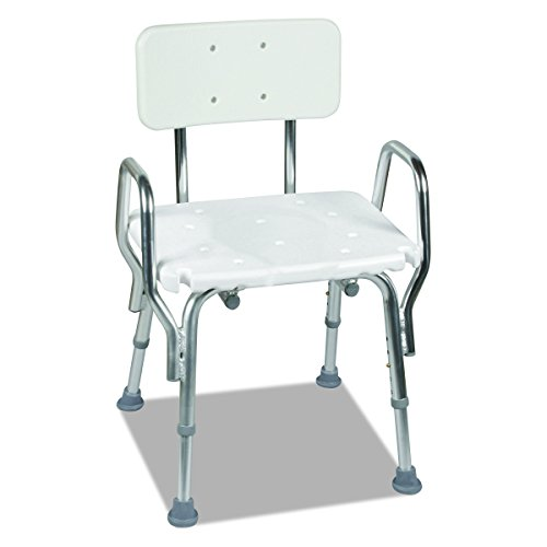 Medical Tool-Free Assembly Spa Bathtub Shower Chair, Heavy Duty Shower Chair, Portable Shower Seat, Adjustable Bath Seat, Shower Seat with Arms, - Shower Bathtub Bench Portable