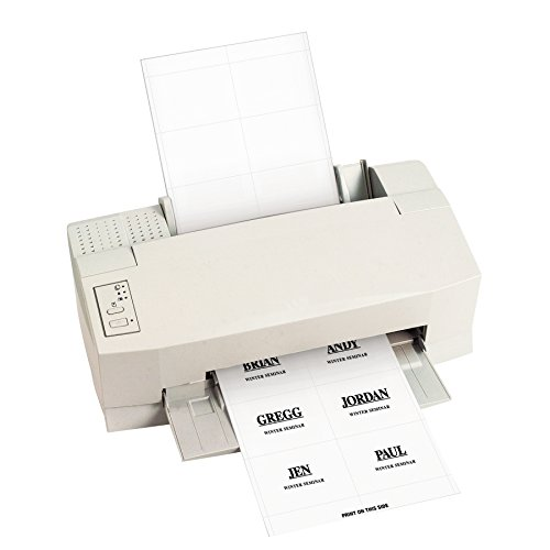 Insert White Laser - C-Line Replacement Inkjet/Laser Printer White Badge Inserts, 3 x 4 Inches, 6/Sheet, 10 Sheets, 60 Inserts per Pack (92443)