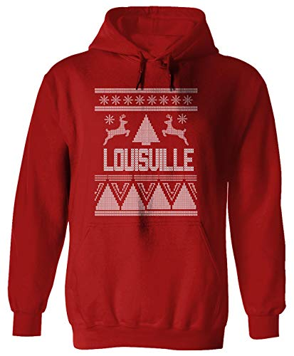 Louisville Ugly Sweater Christmas Holiday Adult Hoodie for Men & ()