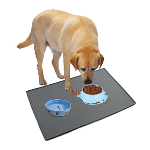 Small Placemat Personalized (SKILEEN Pet Placemat Non Slip Dog Feeding Mat Tray Waterproof CatsFood Mats23.4