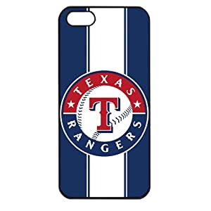 MLB Major League Baseball Texas Rangers Apple iPhone 5 TPU Soft Black or White case (Black)