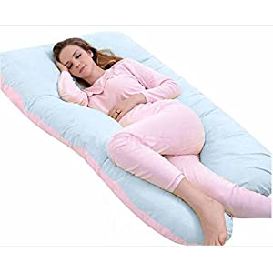 Queen Rose U Shaped Pregnancy Body Pillow with Zipper Removable Cover