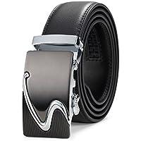 Satyam Kraft Men's PU Leather Belt (Black, Standard Size)
