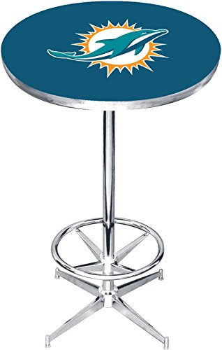 Imperial Officially Licensed NFL Furniture: Round Pub-Style Table, Miami Dolphins