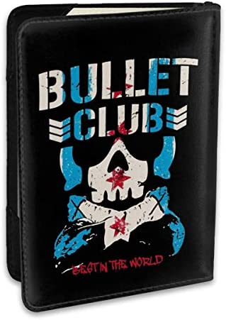 Punk Bullet Club バレット・クラブ 新日本プロレスリング パスポートケース パスポートカバー メンズ レディース パスポートバッグ ポーチ 収納カバー PUレザー 多機能収納ポケット 収納抜群 携帯便利 海外旅行 出張 クレジットカード 大容量