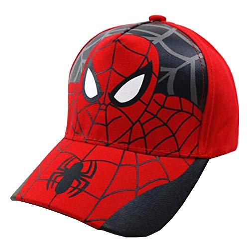 Kids Spider Man Cartoon Falt Hat Snapback Spiderman Boys Toddler Cotton Baseball Cap hat ()