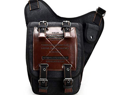 Men's Satchel Black Kaimeng Bags Cross Messenger Body Vintage Casual Travel Shoulder Canvas Bag TPqH5P
