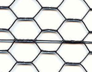 Tenax Steel Hex Web Blk PVC Coated Rodent Fence - 2' x 150'