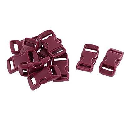 eDealMax lateral plástico de liberación rápida de cierre DE 11 mm correas Band 10pcs Rojo púrpura