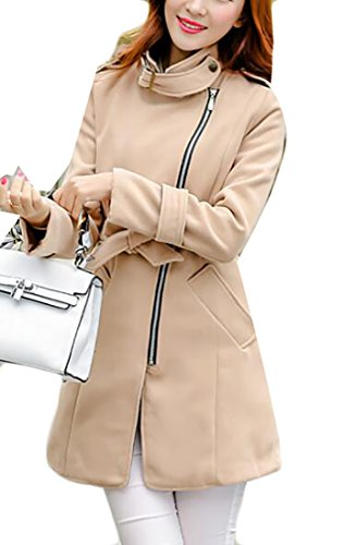 WANSHIYISHE-Women Camel Wool Blazer 2019