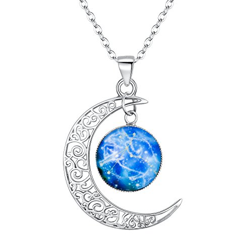 (BriLove 925 Sterling Silver Necklace for Women -