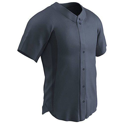 Champro reliever Full Button Baseball Jersey Graphite Adult S BS149 BS149AGPHS