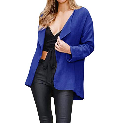 GIFC Womens Casual Solid Open Cape Coat Loose Long Sleeve Kimono Jacket Cardigan Tops