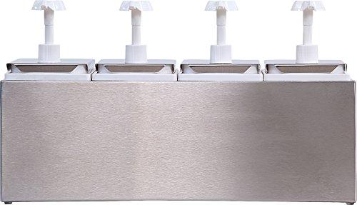 Carlisle 38504 Quadruple Condiment Pump Station with 2.5 Quart Jars by Carlisle (Image #1)