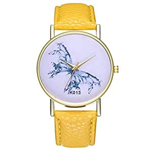 Ladies Wrist Watches on Clearance,Stainless Steel Watches for Women,Women's Watch with Day and Date,Women Watches (Yellow)