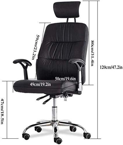 Xiuyun svängbar stol – hem kontor stol spelstol med ergonomisk design, justerbart PU-nackstöd och armstöds uppgift datorstol bärstöd