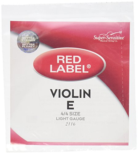 (Super Sensitive 2116 Red Label E String - Steel - Violin - 4/4 - Soft)