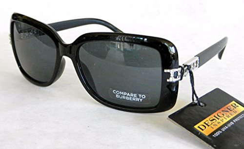 Designer Inspired Fashion Sunglasses (957) 100% UVA & UVB (COMPARE to BURBERRY)+ FREE BONUS MICROSUEDE CLEANING - Ray Burberry Bans