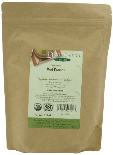 Davidson's Tea, Red Passion, 16-Ounce (Red Tropical Leaves)