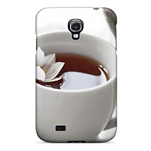 New Style Case Cover PMD7158vcLx Tea Cat Compatible With Galaxy S4 Protection Case